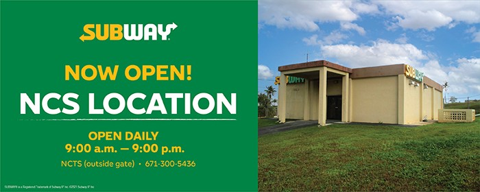 Now open! Subway NCS